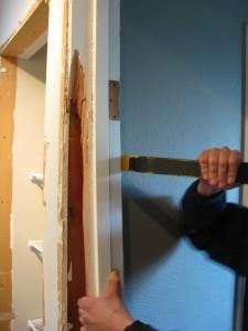 Removing old door frame