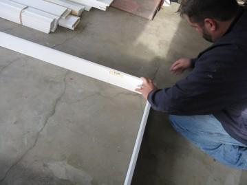 Assembling new door frame