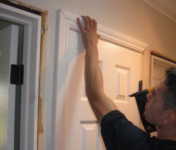 removing casing for a new prehung interior door