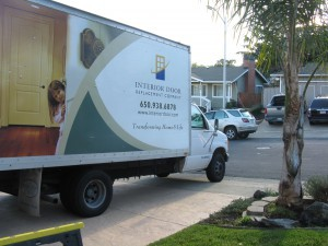 Interior Door Replacement Company truck