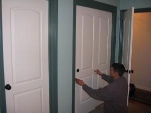 new closet door