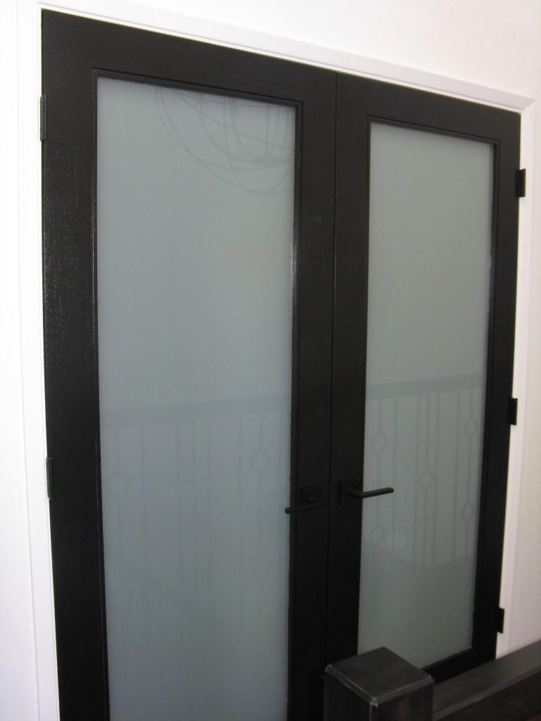 interior white laminate doors