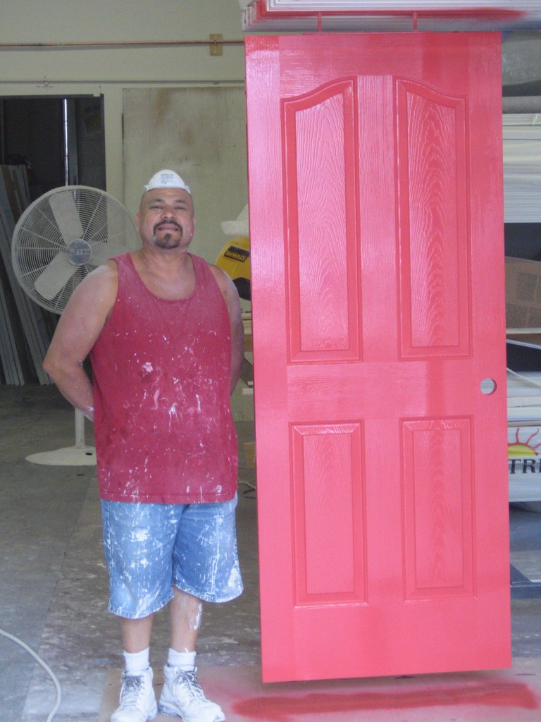 Sal with painted door