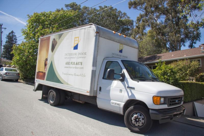 Interior Door Replacement Company truck