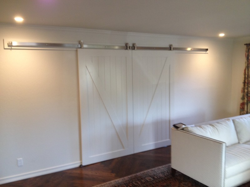 Double Barn Doors in closed position