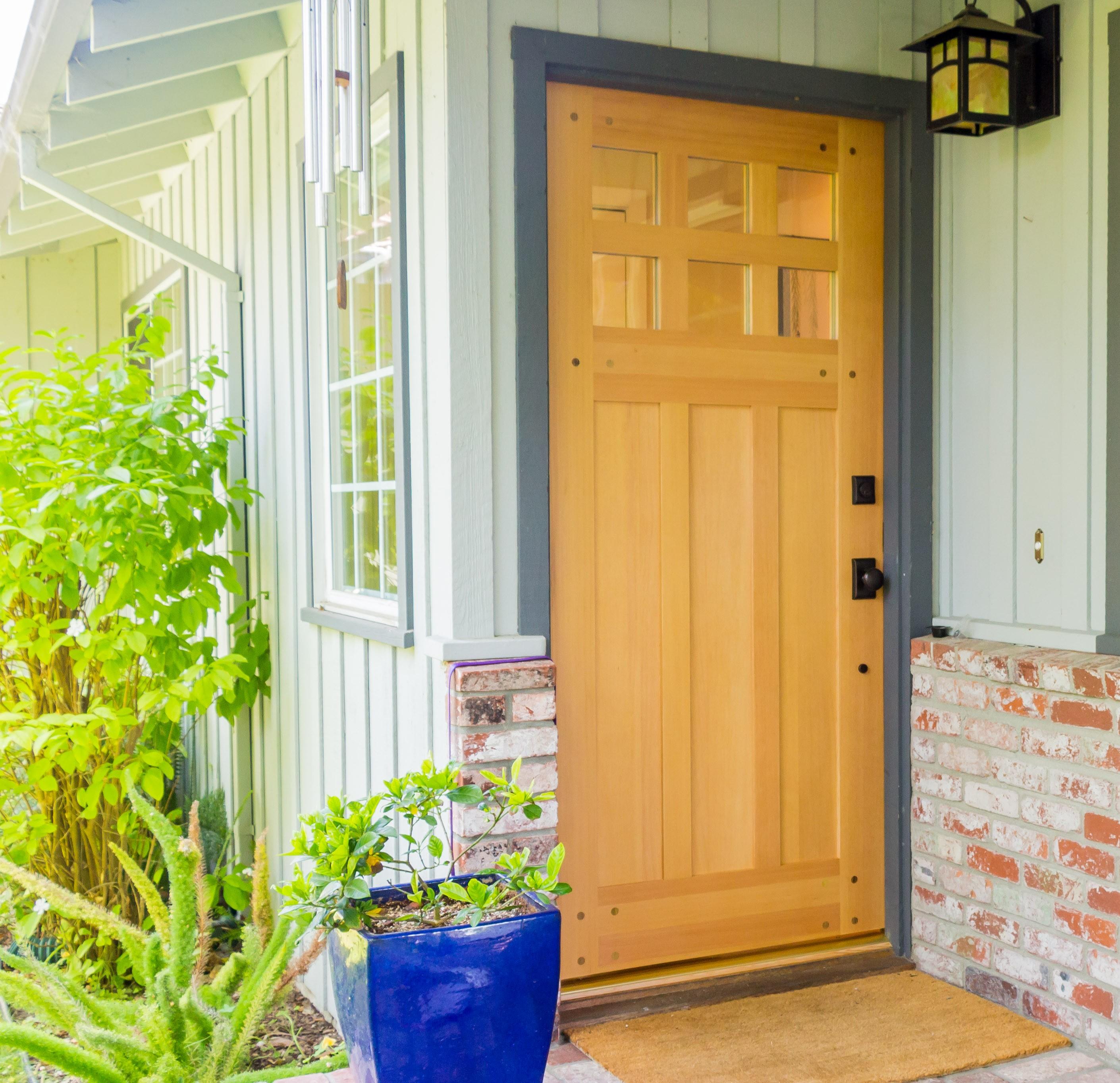 2727 #8BB714 New Front Door And French Doors In Menlo Park save image Simpson Fir Doors 41972821