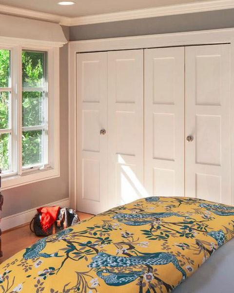 Custom bifold closet door shaker style