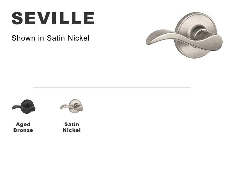 Seville Lockset for Interior Doors