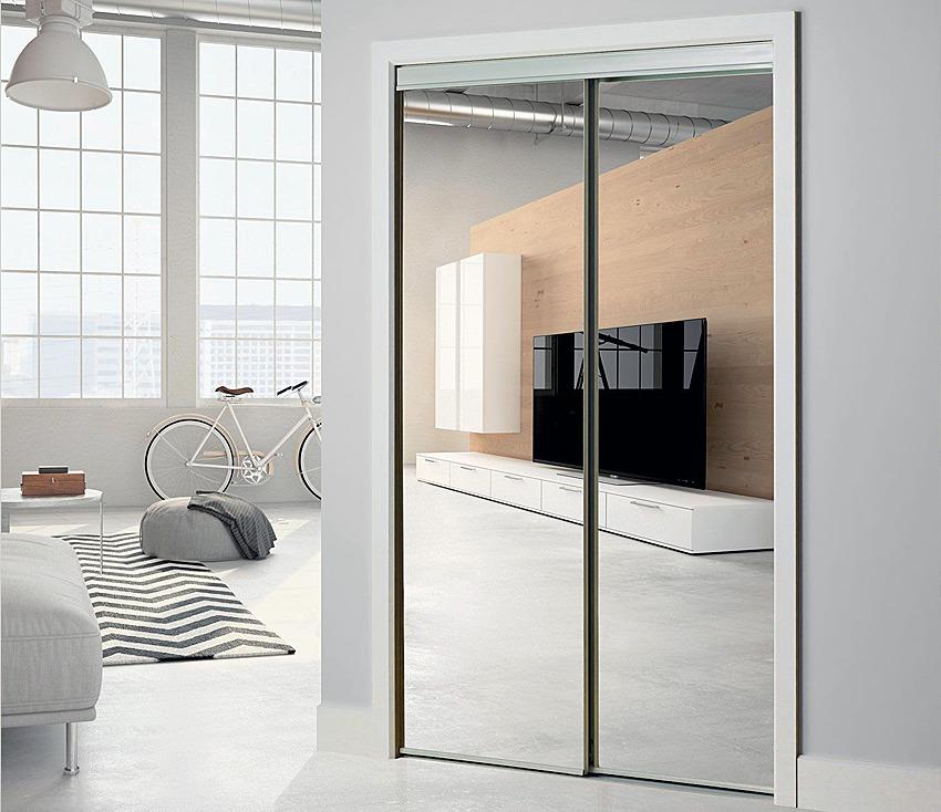 Mirrored Wardrobe Door - Interior Door Replacement Company